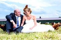 After-Wedding-Shoot auf der Hühnerfarm