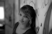 Portrait-Shooting in schwarz-weiß