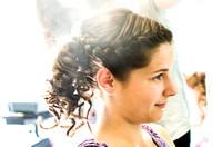 Mit der Braut beim Frisör